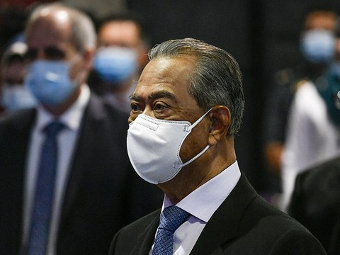 Perdana Menteri Muhyiddin Yassin menghadiri pelancaran Forum Bandar Malaysia 2020 di Kuala Lumpur, 28 September 2020. [S. Mahfuz/BeritaBenar]